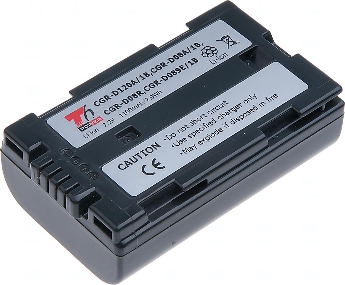 Baterie T6 power Panasonic CGR-D120A/1B, CGR-D08A/1B, 1100mAh, šedá