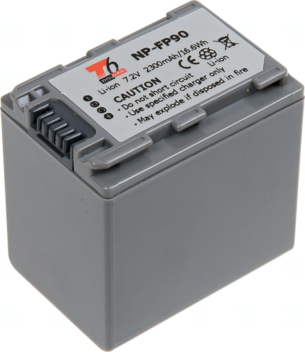 Baterie T6 power Sony NP-FP90, 2300mAh, šedá