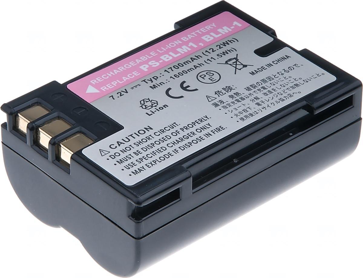 Baterie T6 power Olympus PS-BLM1, BLM-1, 1700mAh, černá