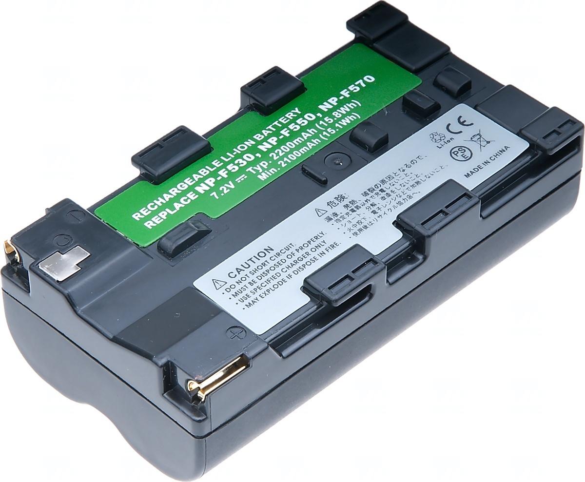 Baterie T6 power Sony NP-F330/550, 2300mAh, šedá