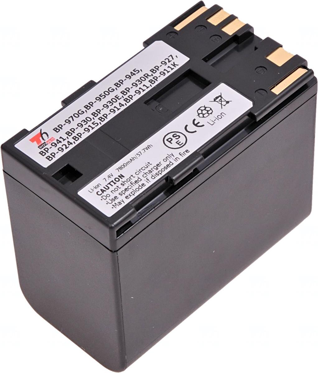 Baterie T6 power Canon BP-911, BP-914, BP-930, BP-945, BP-950, BP-955, BP-970, BP-975, 7800mAh