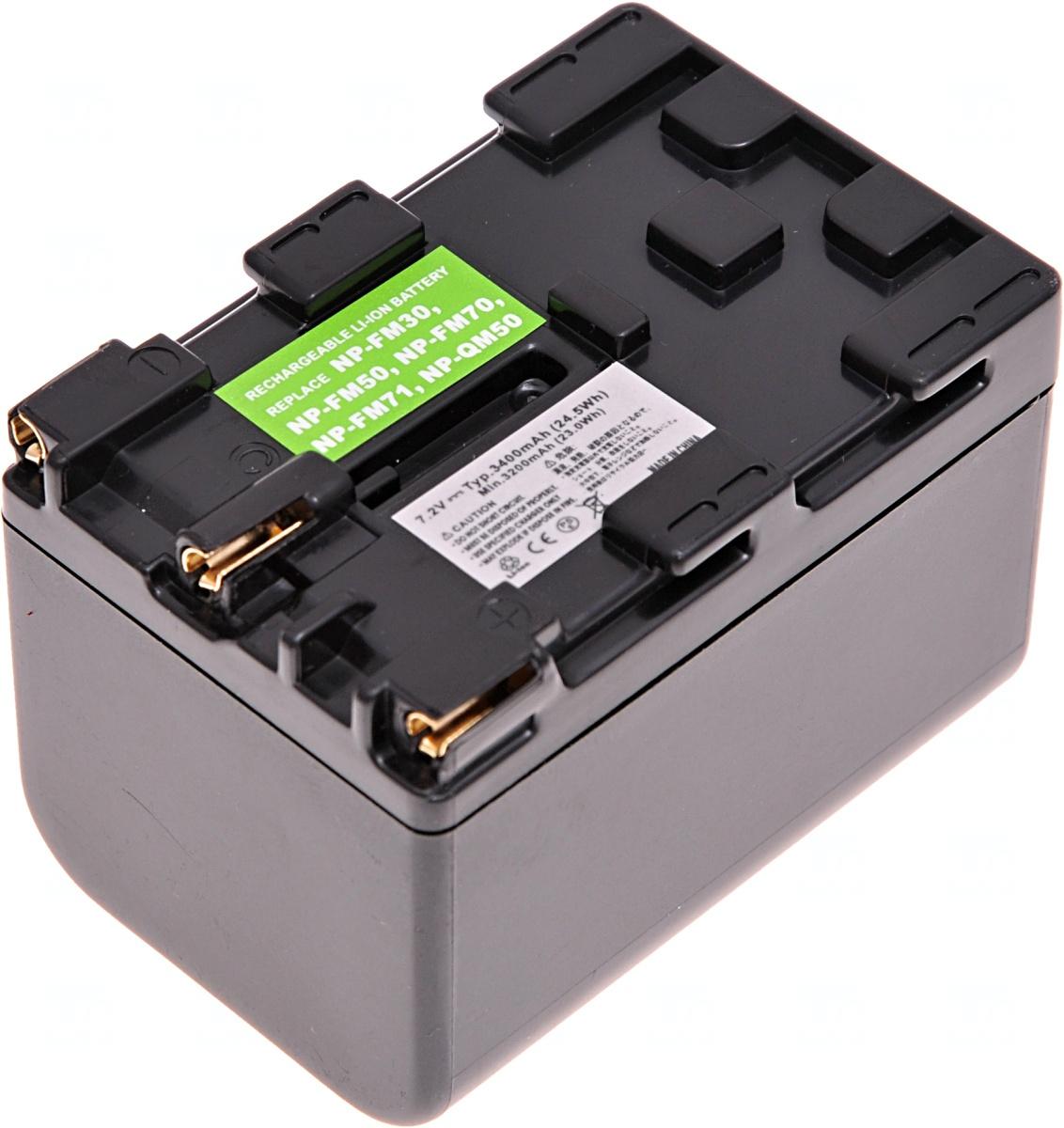 Baterie T6 power Sony NP-FM70, NP-FM71, NP-QM70, NP-QM71, 3240mAh, šedá