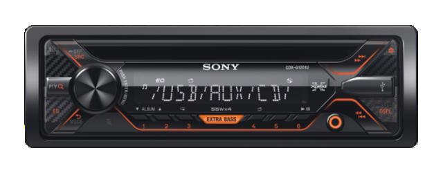 Sony autorádio CDX-G1201U CD/MP3,USB/AUX, oranžový