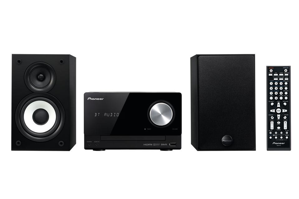 Pioneer systém s CD,DVD,USB a Bluetooth, černý