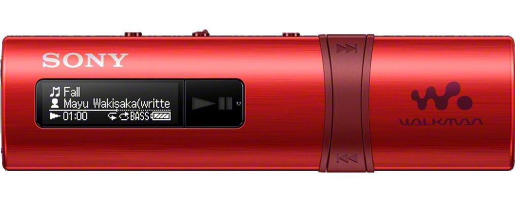 Sony MP3 přehrávač 4GB NWZ-B183F, FM rádio,červený