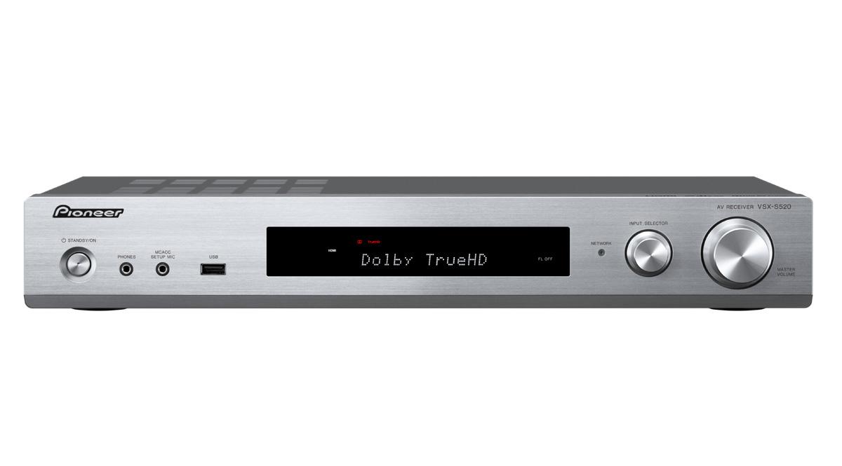 Pioneer AV přijímač 5.1 se sítí, slim, stříbrný