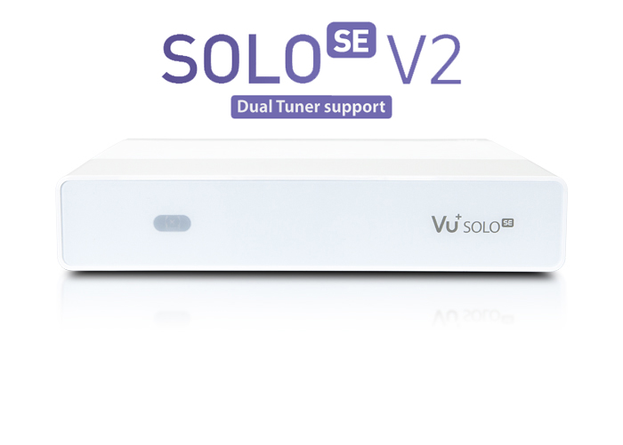Vu+ Solo SE V2 bíly(1x Dual DVB-S2 tuner)