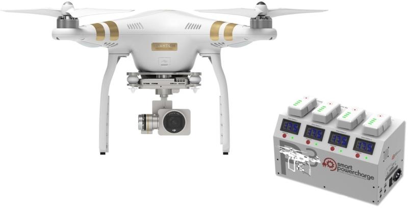 DJI kvadrokoptéra - dron, Phantom 3 Professional, 4K Ultra HD kamera + nabíjecí stanice