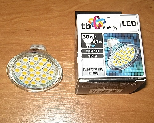 LED žárovka TB Energy MR16, 12V, 4,0W,Neutrál bílá