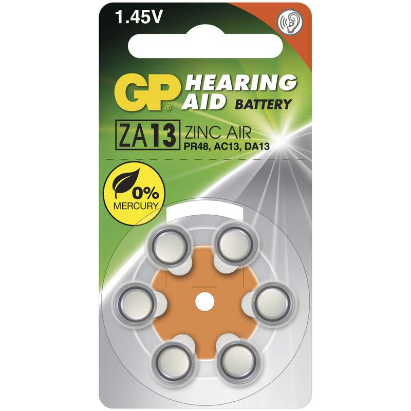 Baterie do naslouchadel GP ZA13 - 6ks