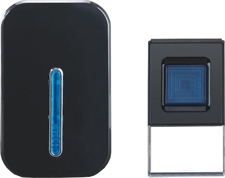 Solight bezdrátový zvonek, do zásuvky, 100m, černý