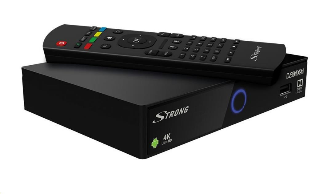 Strong SRT2401 - UHD android box, T2 H265/C/S2 FTA tuner, OS 7.1