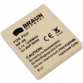 Braun fotoakumulátor Li-Ion 3,7 V/750 mAh (B10), typ Fuji NP-40, Pentax D-Li8