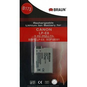 Braun fotoakumulátor Li-Ion 7,4V/750mAh (B173), typ Canon LP-E8
