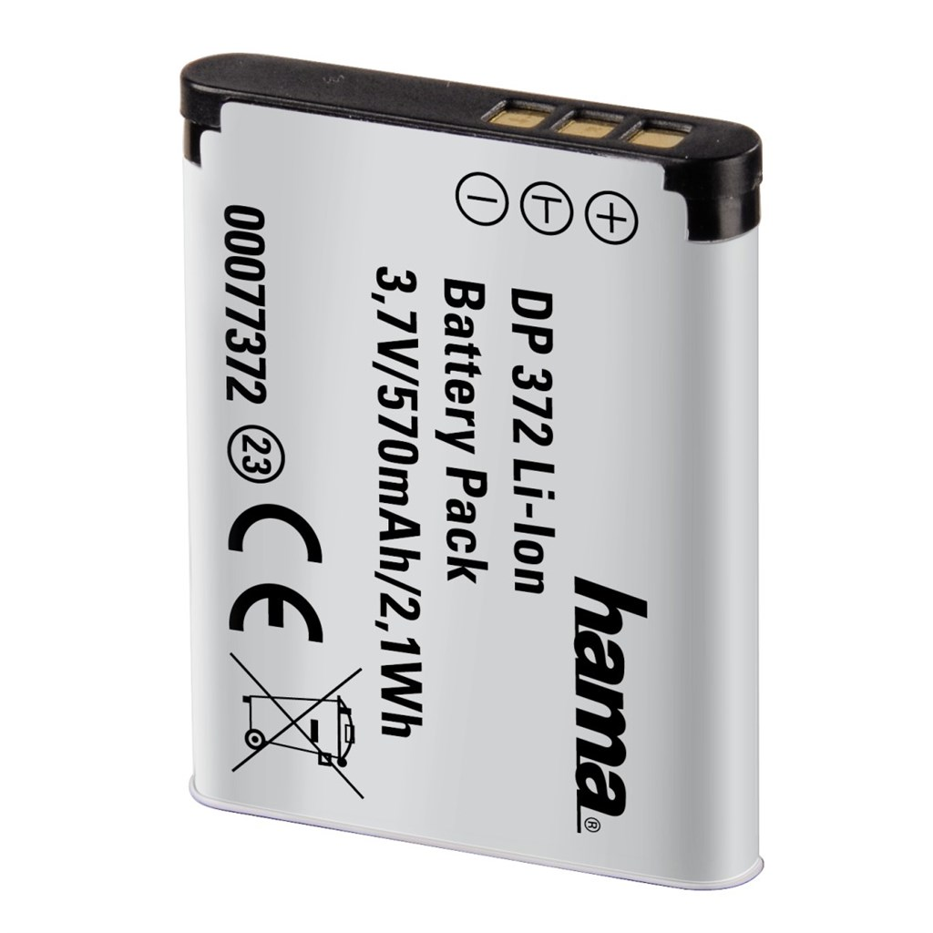 Hama fotoakumulátor Li-Ion 3,7 V/570 mAh, typ Pentax D-Li88, Sanyo DB-L80