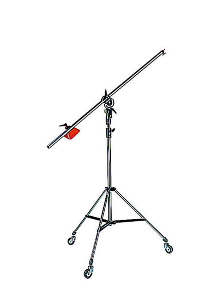 Manfrotto 085B Boom LIGHT 35 se stativem - 3 sekce, prům. 35 mm, stažený 100 cm, vytažený 280 cm