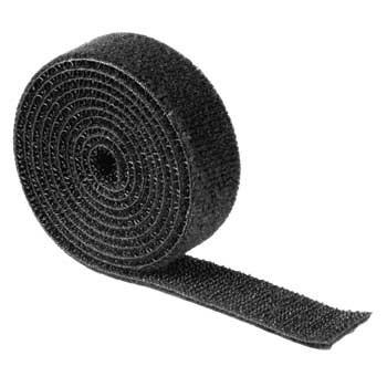 Hama univerzální stahovací páska, suchý zip, 1 m, černá