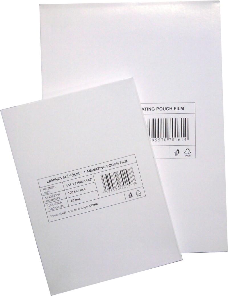 Matné laminovací fólie A4/125mic. 100ks