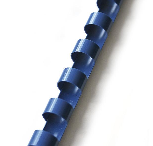 plastový hřbet 10mm modrá 100ks