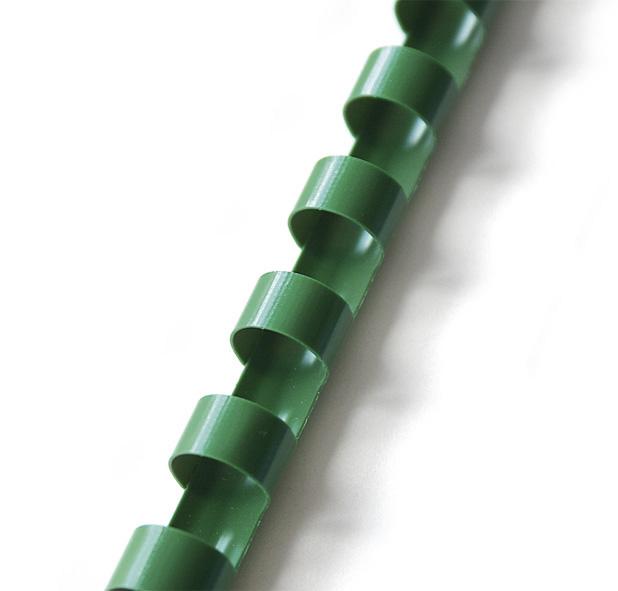 plastový hřbet 22mm zelená 50ks