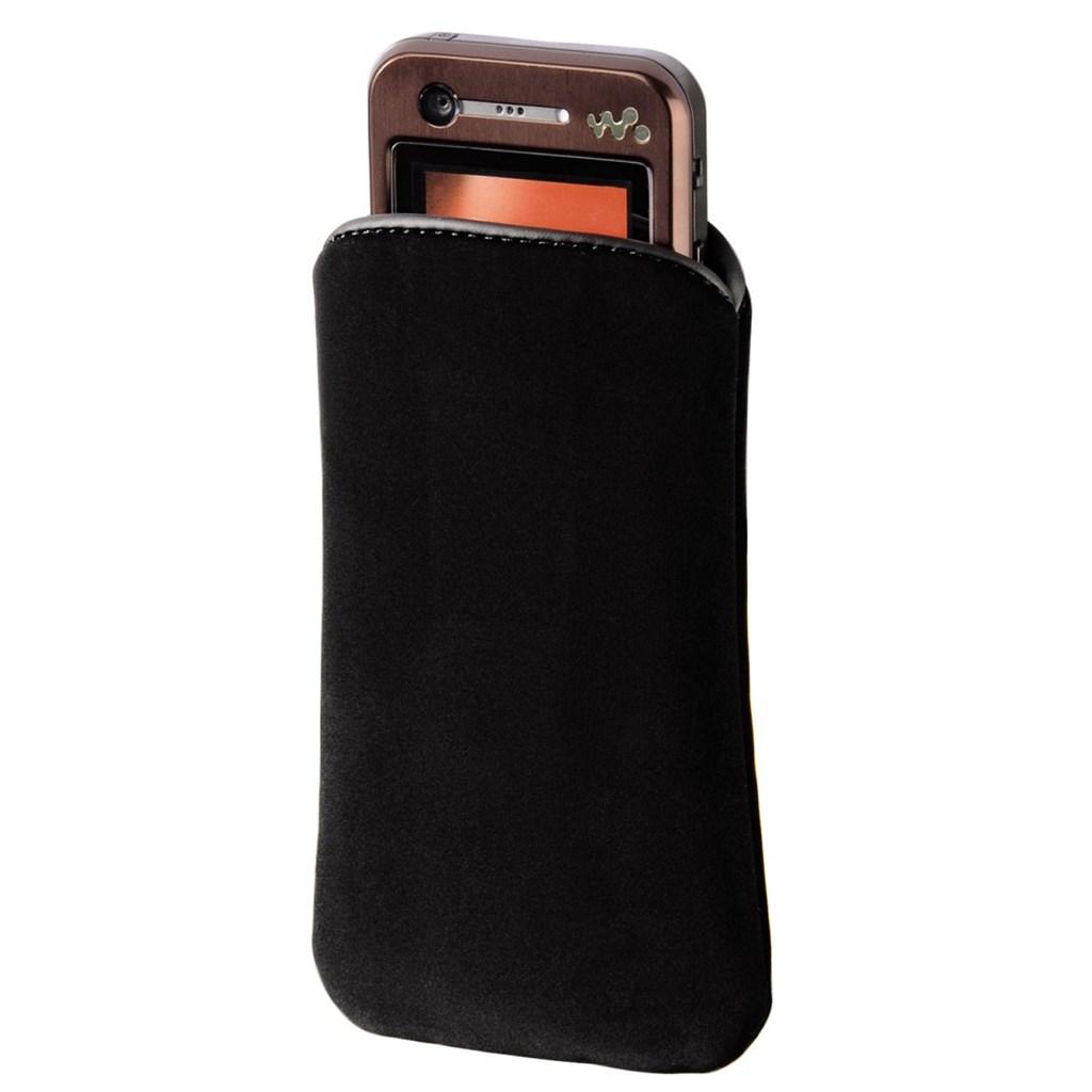 Hama pouzdro na mobilní telefon Velvet Pouch, M, černé