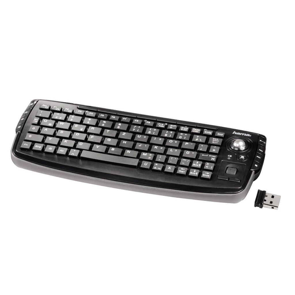 Hama bezdrátová mini klávesnice s trackballem 'Live'