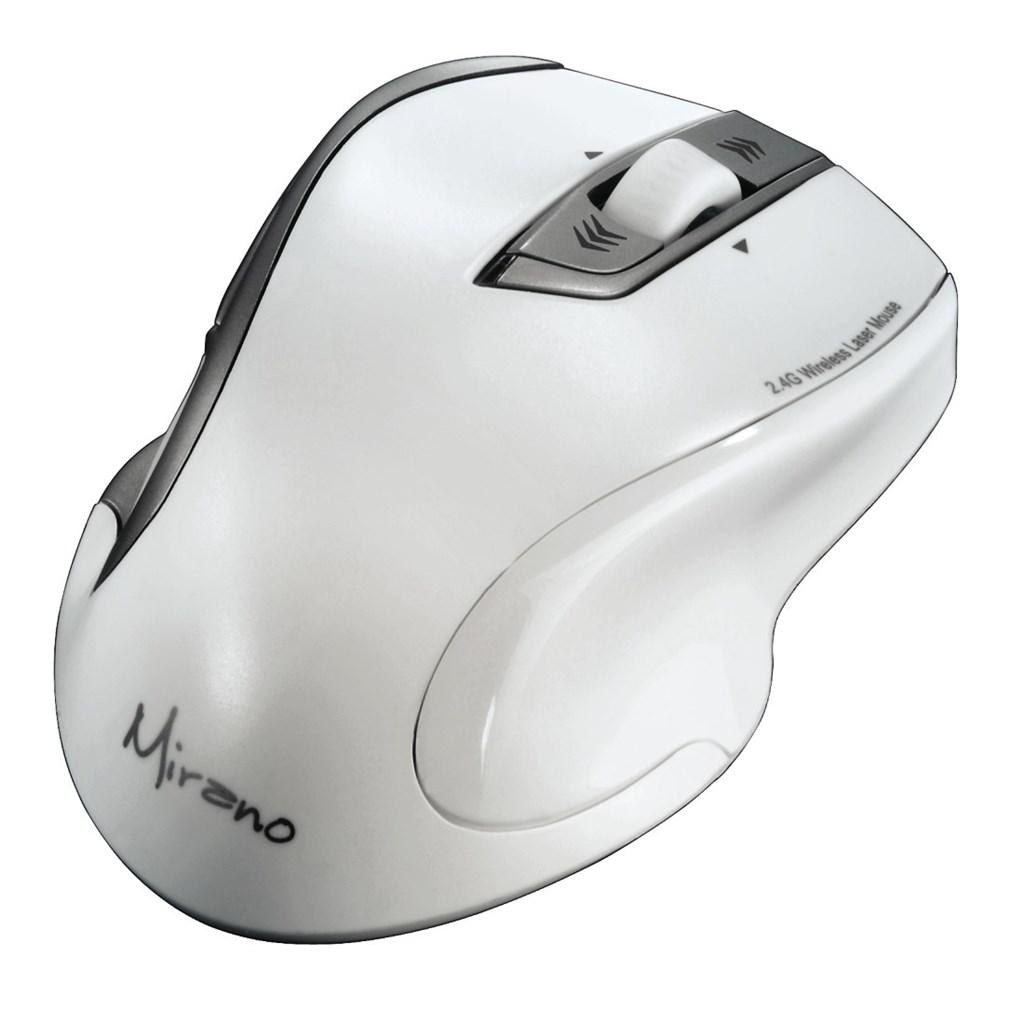 Hama Mirano bezdrátová laserová myš, bílá, tichá
