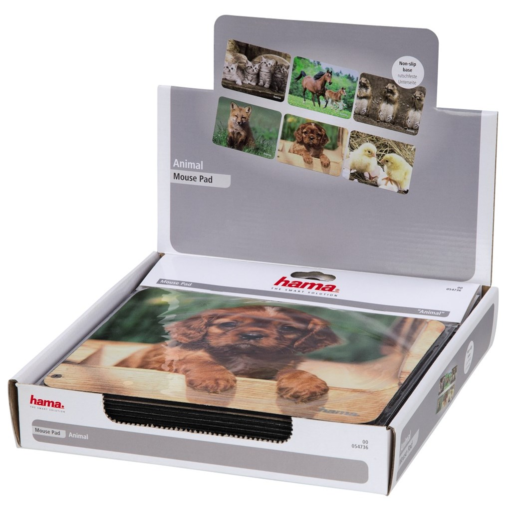 Hama podložky pod myš 'Animals', display 12 ks