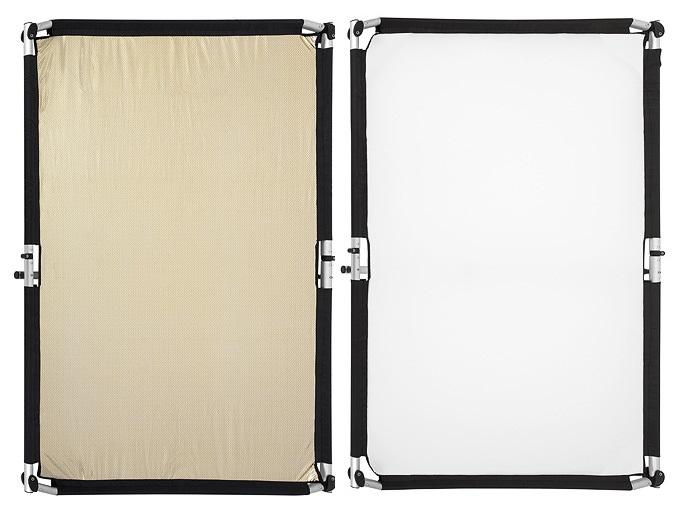 Quick-Clap Slip 1,5 x 2m Gold-Silver stripe/White