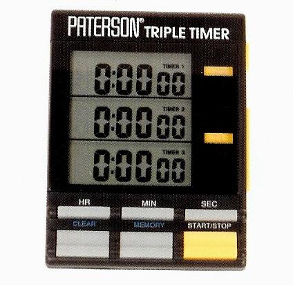 Triple Timer Clock, PATERSON