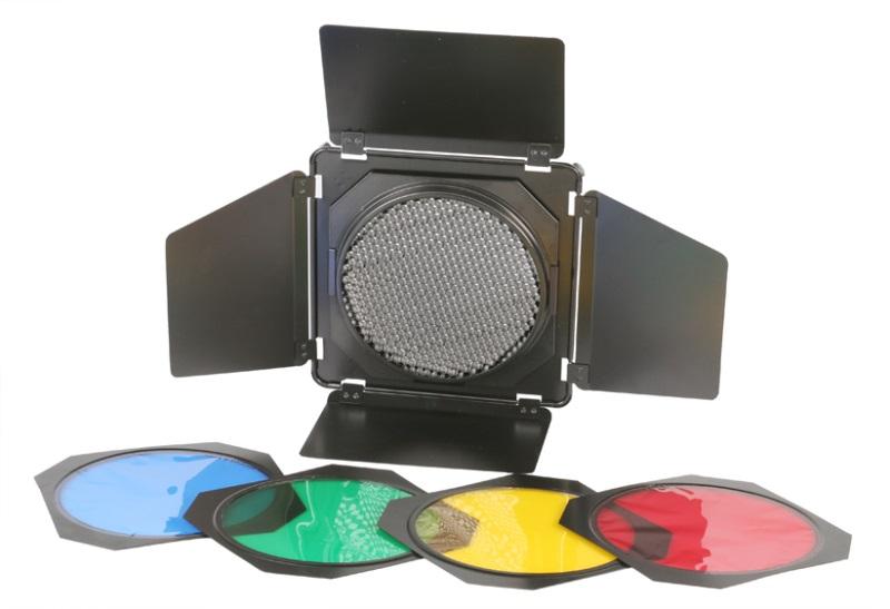 Klapky 16,5 cm + voštinový filtr + sada barevných filtrů BASIC