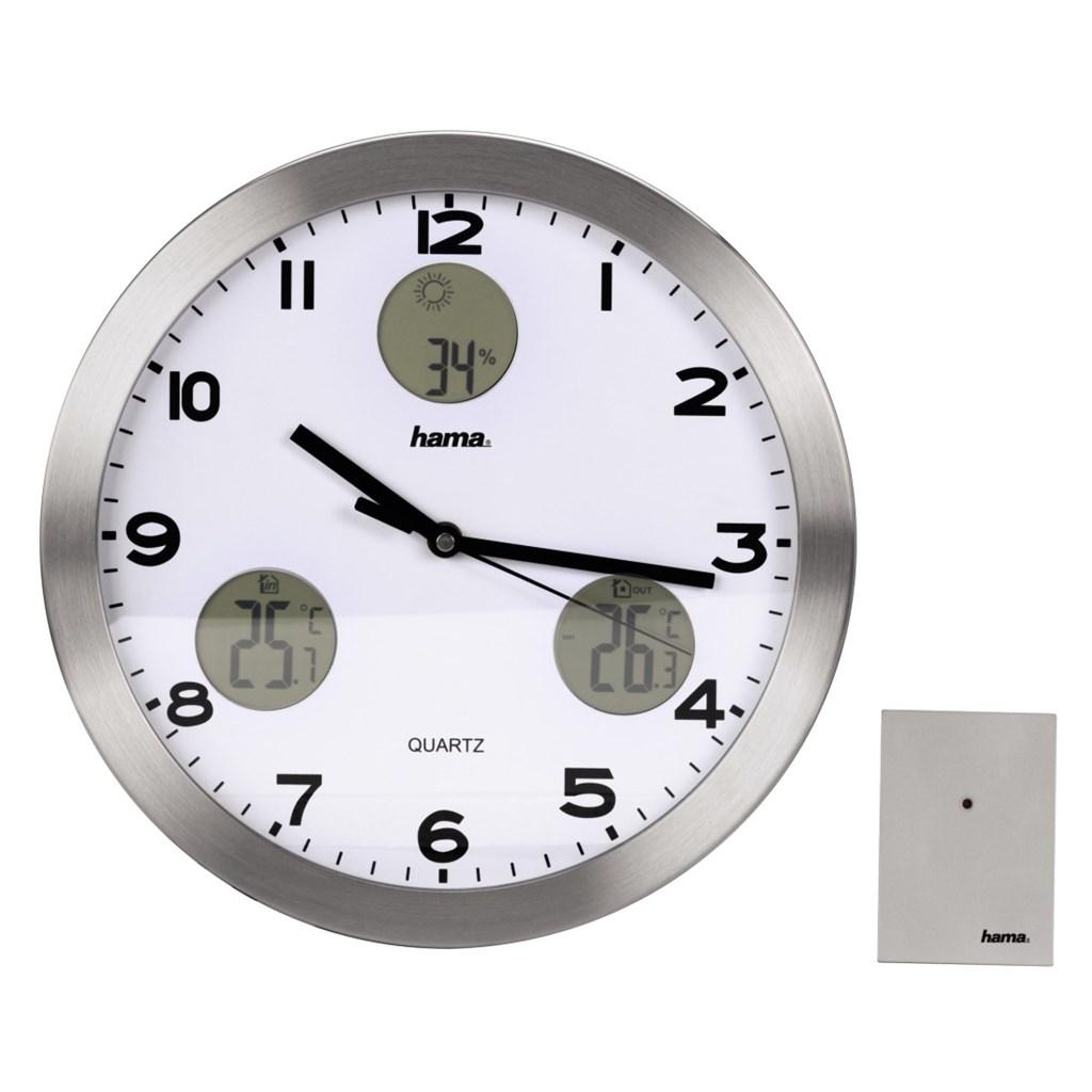 Hama nástěnné hodiny AG-300 Quartz s meteostanicí