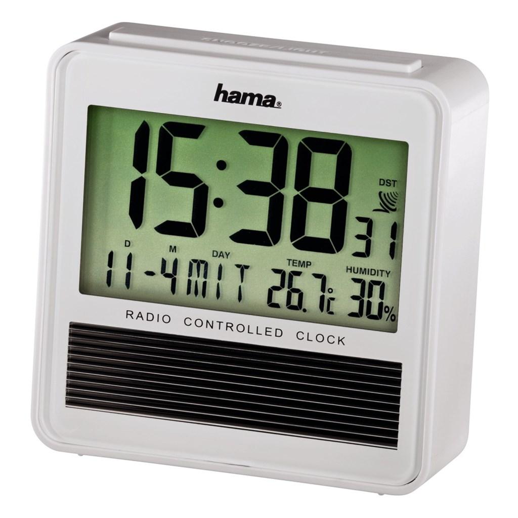 Hama budík Eco-Solar, řízený rádiovým signálem, veliký
