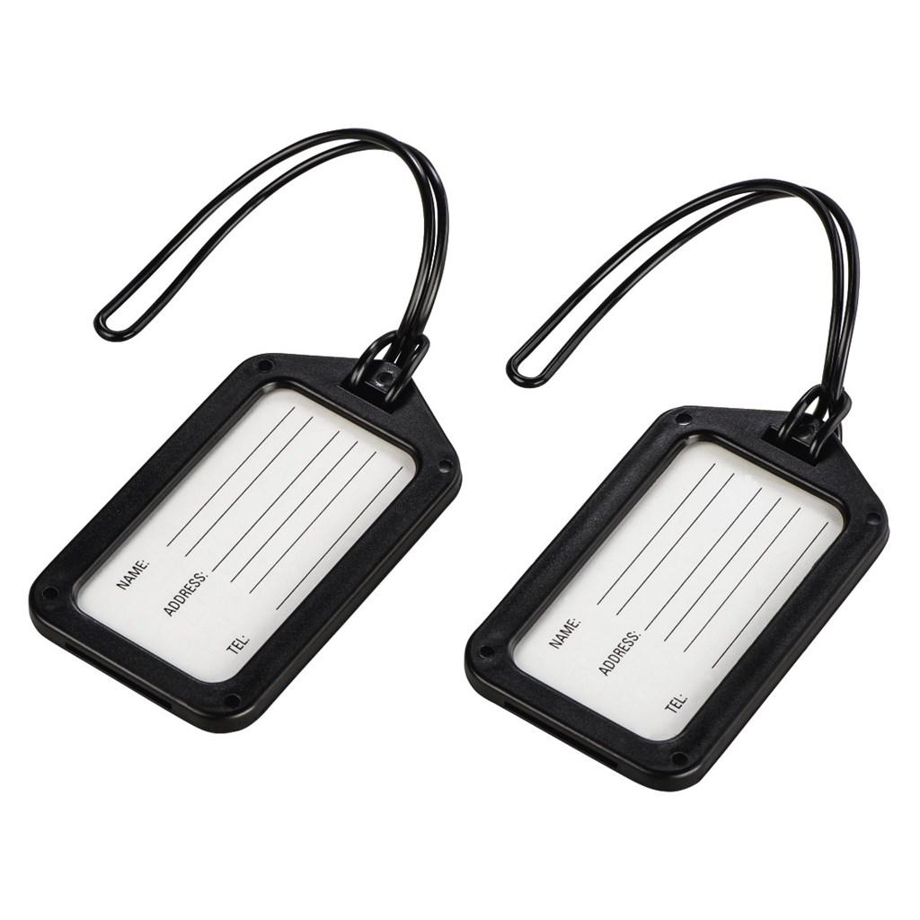 Hama identifikační štítek na zavazadlo, černý, set 2 ks