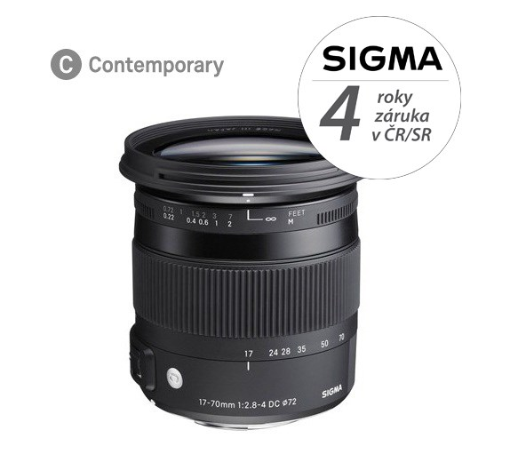 SIGMA 17-70mm F2.8-4 DC MACRO HSM Contemporary Pentax