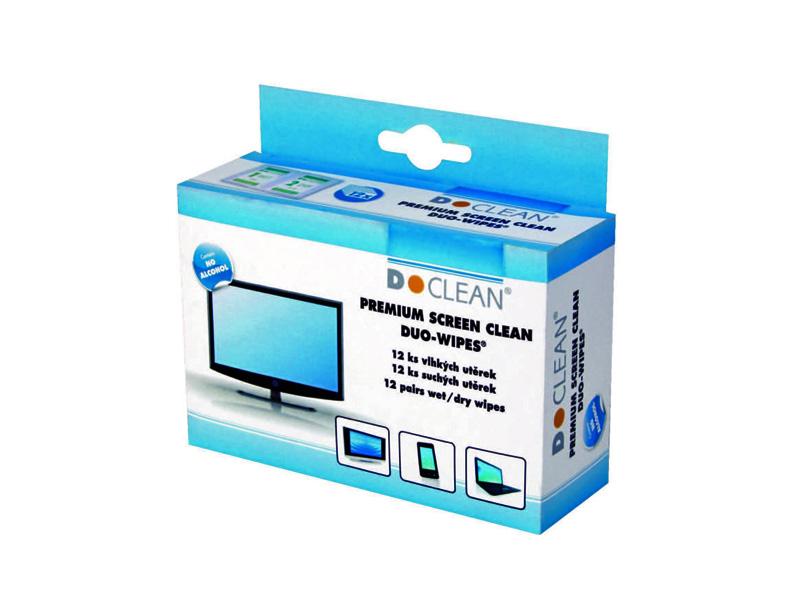 Čisticí utěrky D-CLEAN na LCD monitory