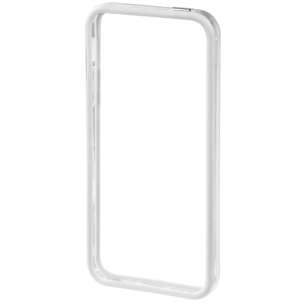 Hama edge Protector Mobile Phone Cover for Apple iPhone 5/5s, white/transparent