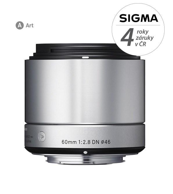 SIGMA 60/2.8 DN ART OLYMPUS stříbrný