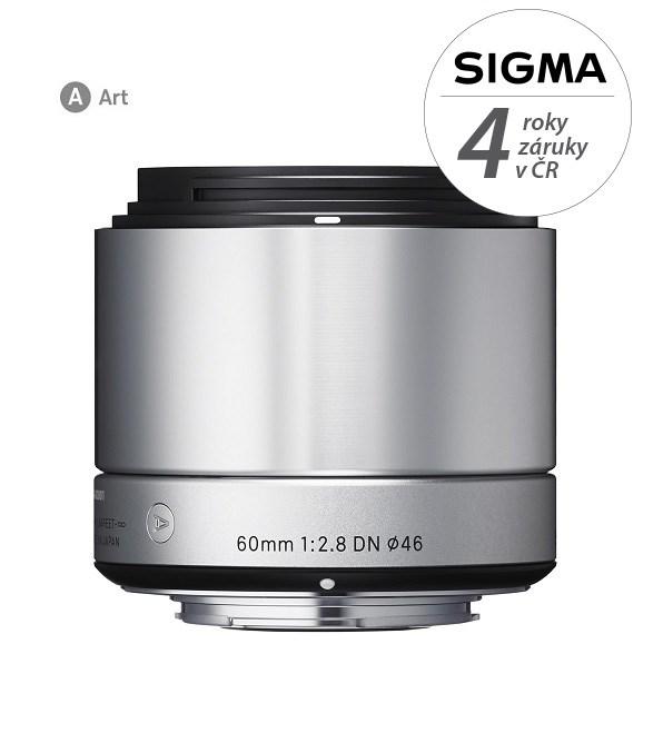 SIGMA 60/2.8 DN ART SONY stříbrný