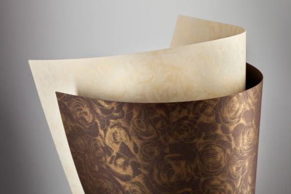 ozdobný papír Růže čokoláda 250g, 20ks