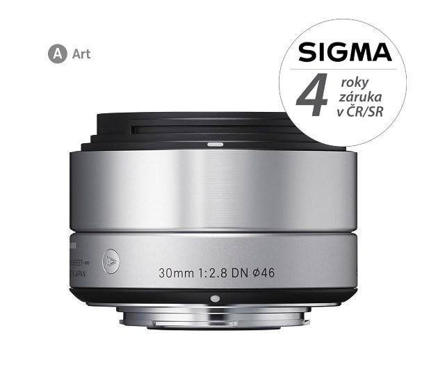 SIGMA 30/2.8 DN ART SONY stříbrný