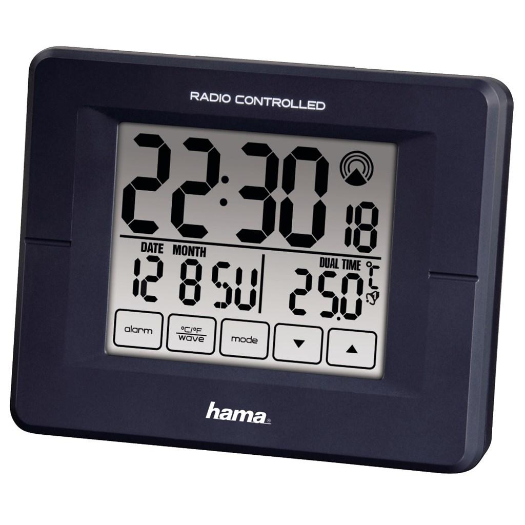 Hama budík RC800, řízený rádiovým signálem, s dotykovým displejem