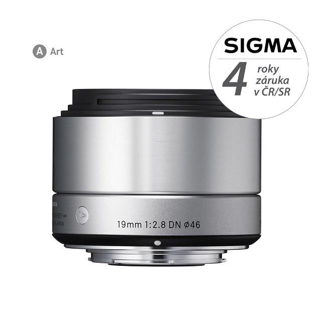 SIGMA 19/2.8 DN ART SONY stříbrný