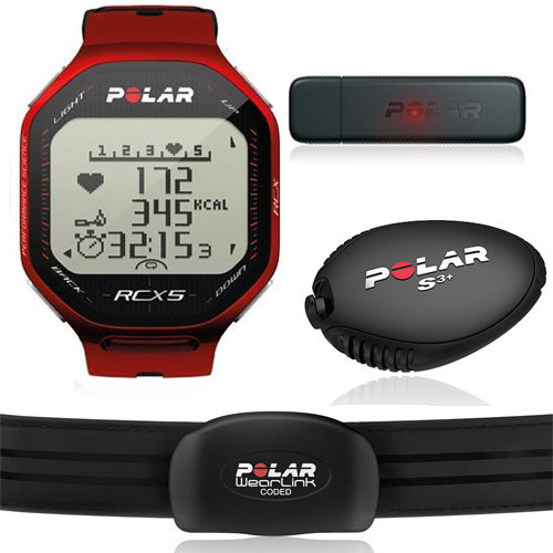 Polar RCX5 Red S3 (BĚH) vč. interface DataLink