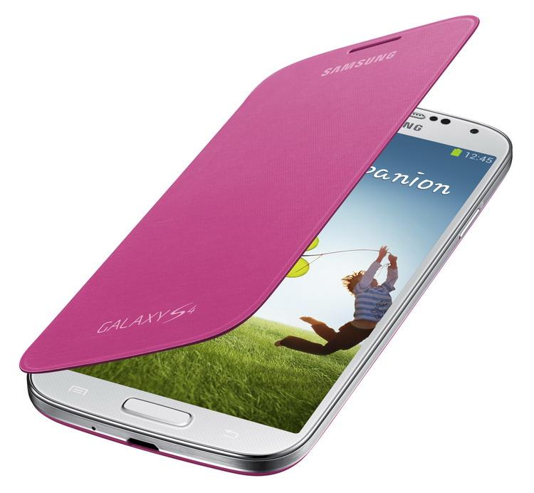 Samsung flipové pouzdro EF-FI950BP pro Galaxy S4 (i9505), růžová