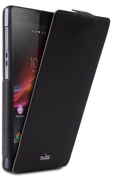 Puro flipové pouzdro pro Sony Xperia Z, černá