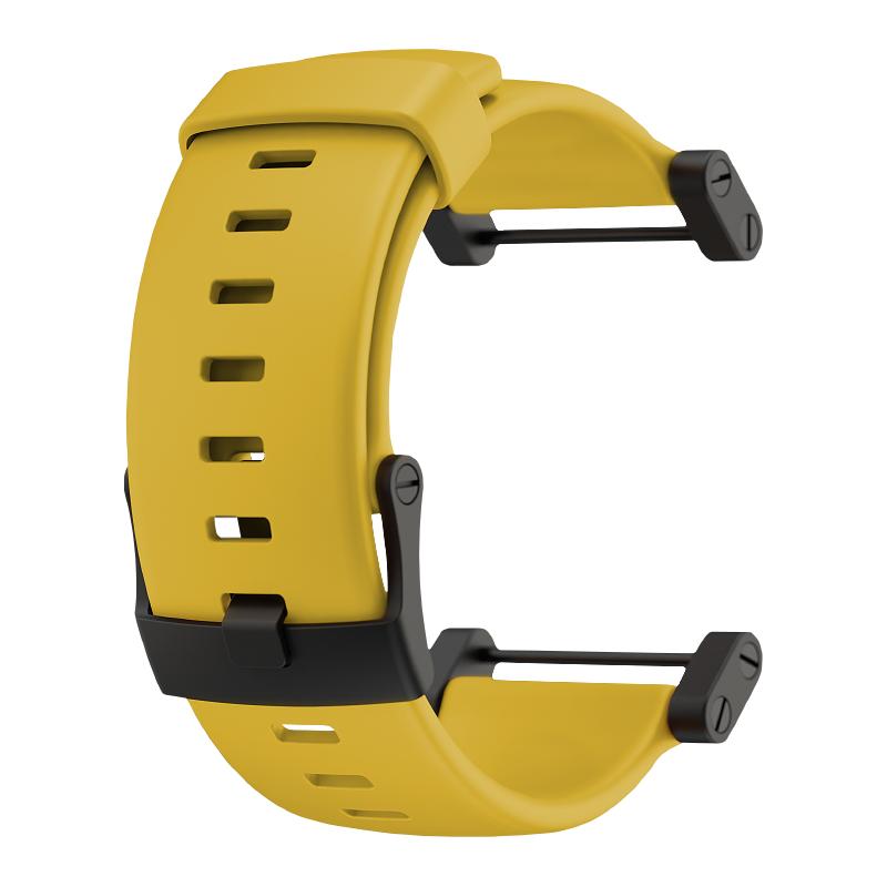 Suunto Core Yellow rubber strap sada náramek +osičky a rozeta