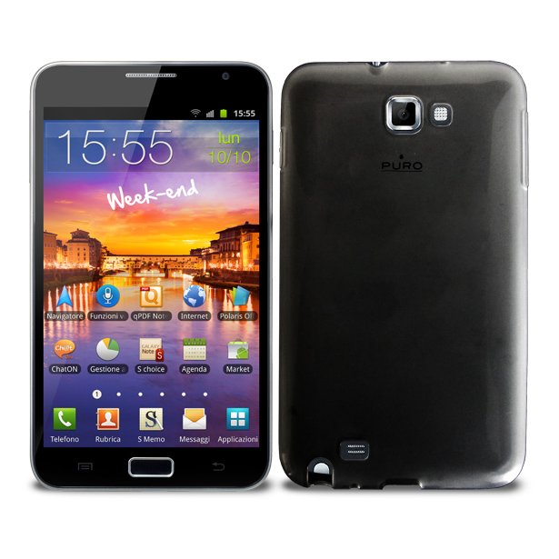 Puro zadní kryt Plasma pro Samsung Galaxy Note, černá