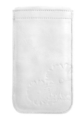 GOLLA kožené pouzdro (typ kapsa) pro smartphony, XXL, Lea, bílá - kolekce 2013
