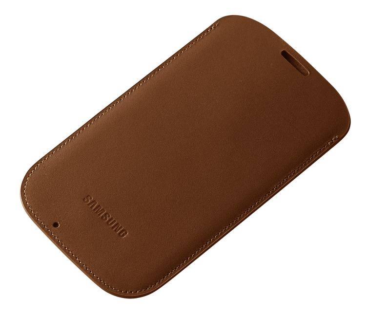 Samsung pouzdro svislé kožené EF-LI950BA pro Galaxy S4 (i9505), světle hnědá